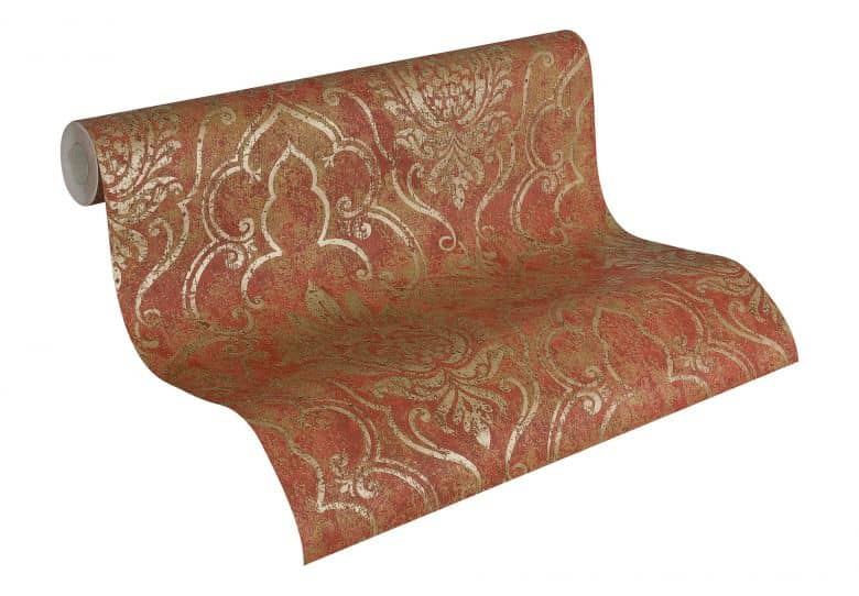 A.S. Création Wallpaper Bohemian Brown, Metallic, Red