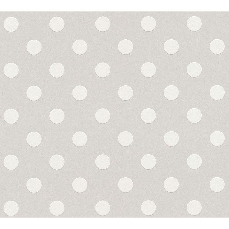 A.S. Création Vliestapete Boys & Girls 6 Tapete gepunktet grau, weiß