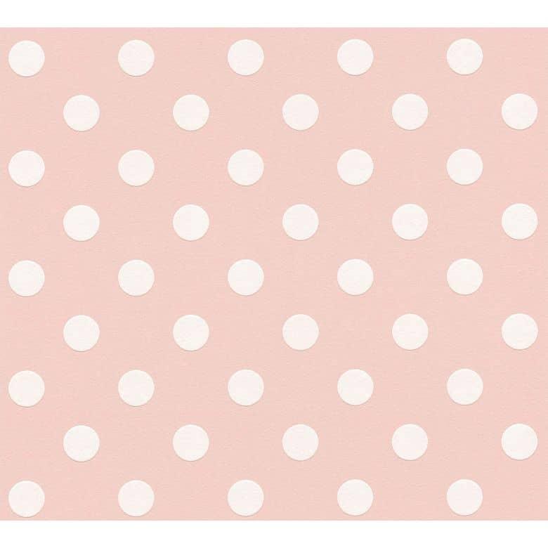A.S. Création Vliestapete Boys and Girls Kinderzimmertapete gepunktet rosa, weiß