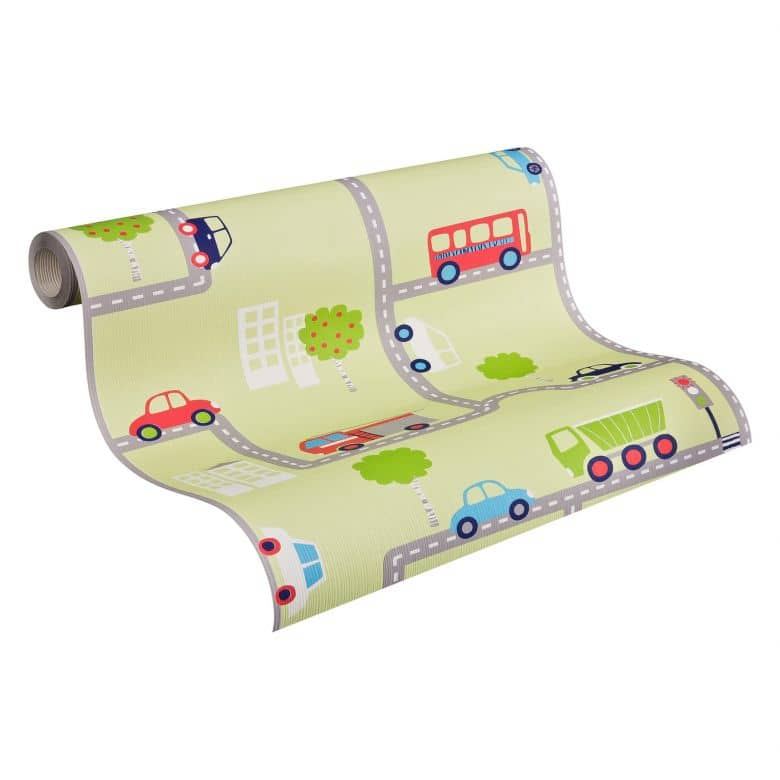 A.S. Création paper wallpaper Boys & Girls 5 multicolored, green