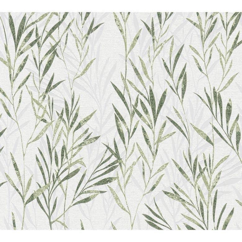 A.S. Création Vliestapete Flavour Blumentapete floral grün, weiß