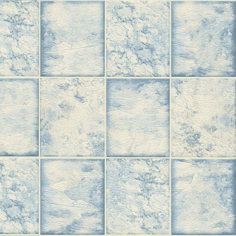 A.S. Création Tapete il Decoro in Fliesen Optik blau, metallic, weiß