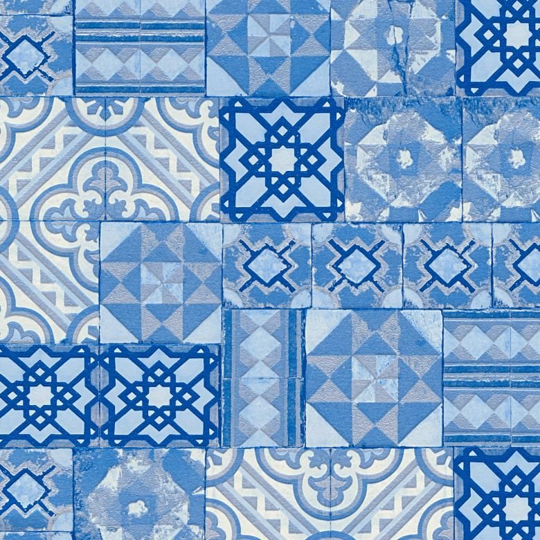 A.S. Création Tapete Il Decoro Fliesentapete blau, metallic
