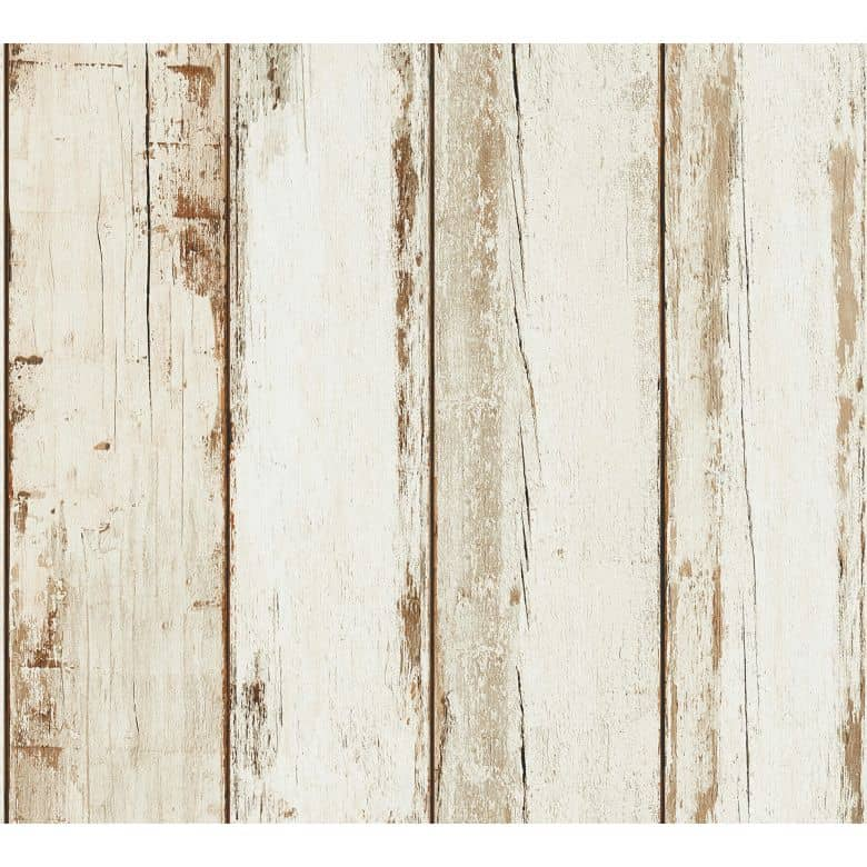 A.S. Création Vliestapete Il Decoro Tapete in Holzoptik Holzplanken braun, creme, schwarz