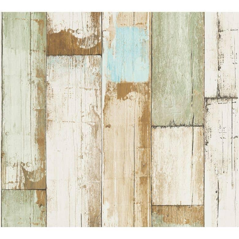 A.S. Création Il Decoro Papier peint effet bois - Beige