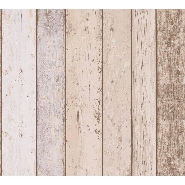 A.S. Création Il Decoro Papier peint effet bois - Brun
