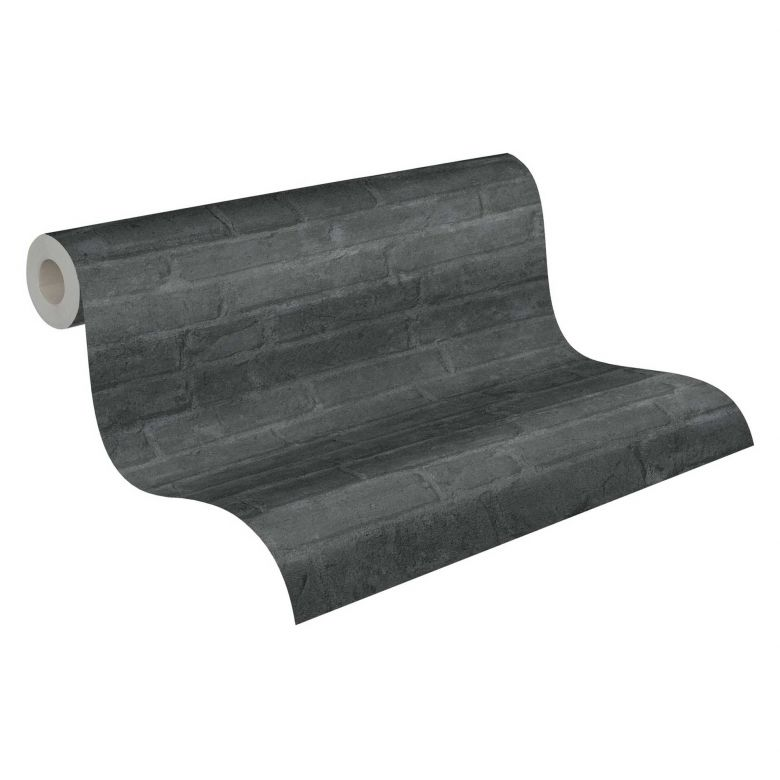 Livingwalls Vliestapete Industrial Tapete in Backstein Optik grau, schwarz, anthrazit