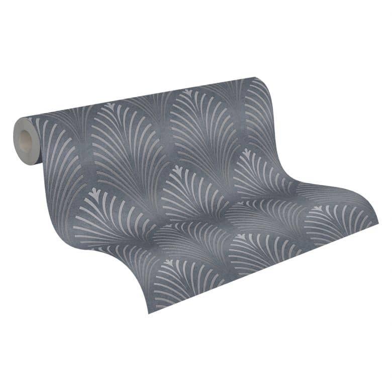 A.S. Création Vliestapete Pop Style Art Deco Tapete, grau, metallic, schwarz