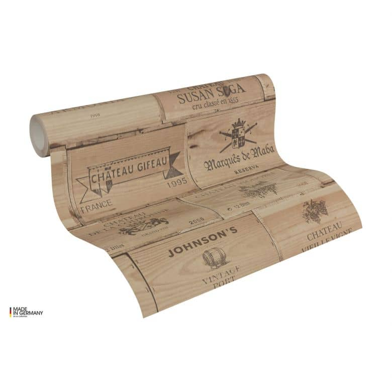 A.S. Création non-woven wallpaper Authentic Walls beige, brown