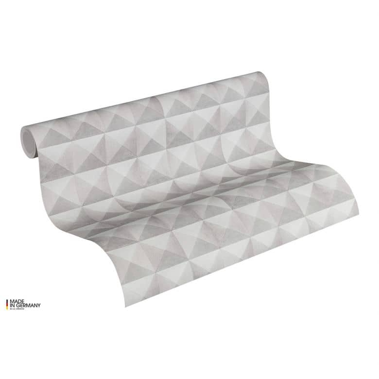 A.S. Création Vliestapete Authentic Walls 2 Tapete in 3D Optik geometrisch beige, grau