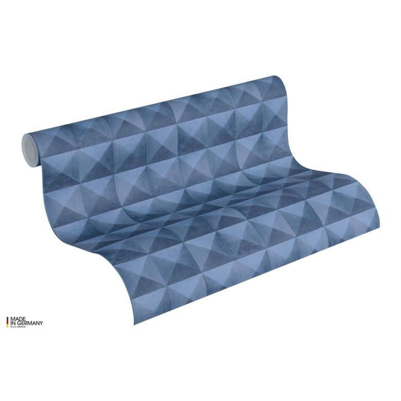 A.S. Création Authentic Walls 2 Papier peint géométrique, Bleu