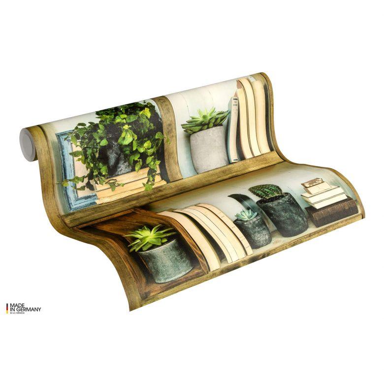 A.S. Création Authentic Walls 2 Papier peint fantaisie, Marron, Vert