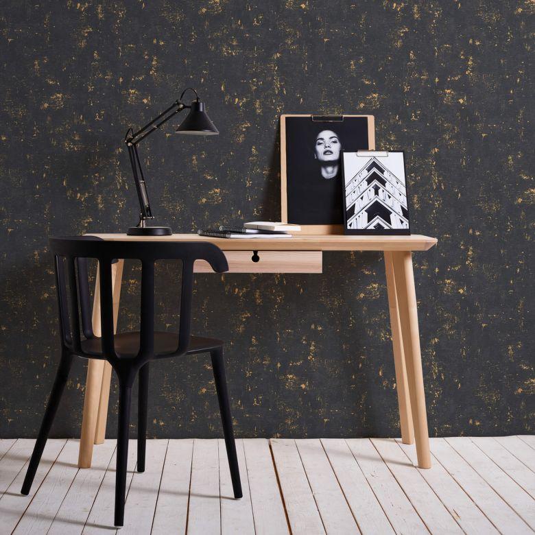 A.S. Création Blooming Papier peint vintage - Noir