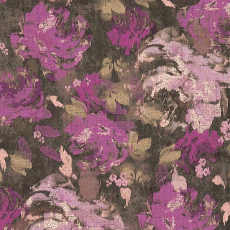 A.S. Création Vliestapete Character Tapete mit Rosen floral braun, rosa, lila
