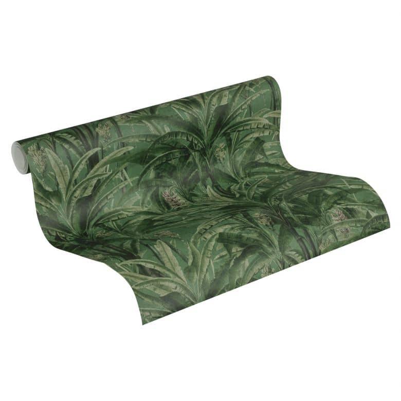 A.S. Création Vliestapete Greenery Palmentapete in Dschungel Optik grün