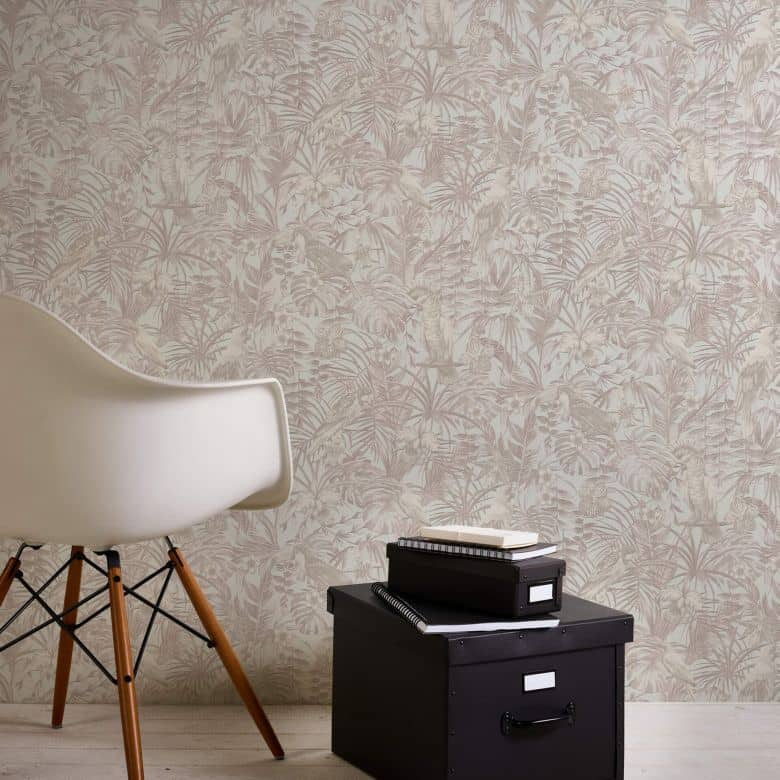 A.S. Création Vliestapete Greenery Tapete mit Palmenprint in Dschungel Optik creme, beige, weiß