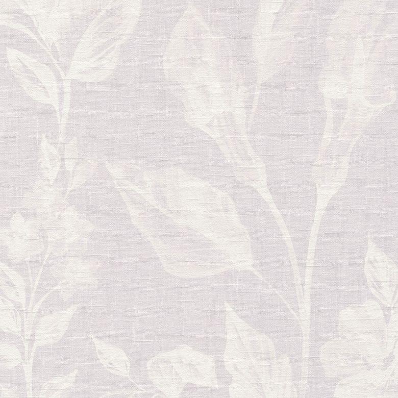 A.S. Création Vliestapete Linen Style Blumentapete floral lila, weiß