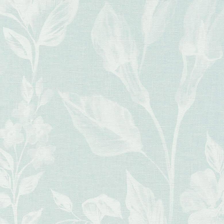 A.S. Création Vliestapete Linen Style Tapete mit Blätter Muster blau, weiß