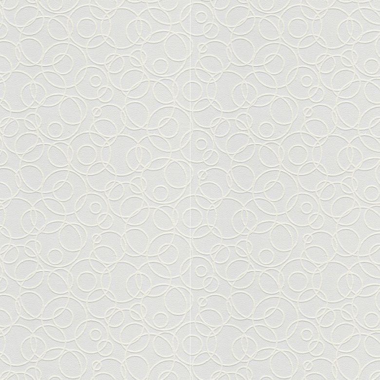 A.S. Création Vliestapete Meistervlies Tapete mit Kreisen überstreichbar weiß