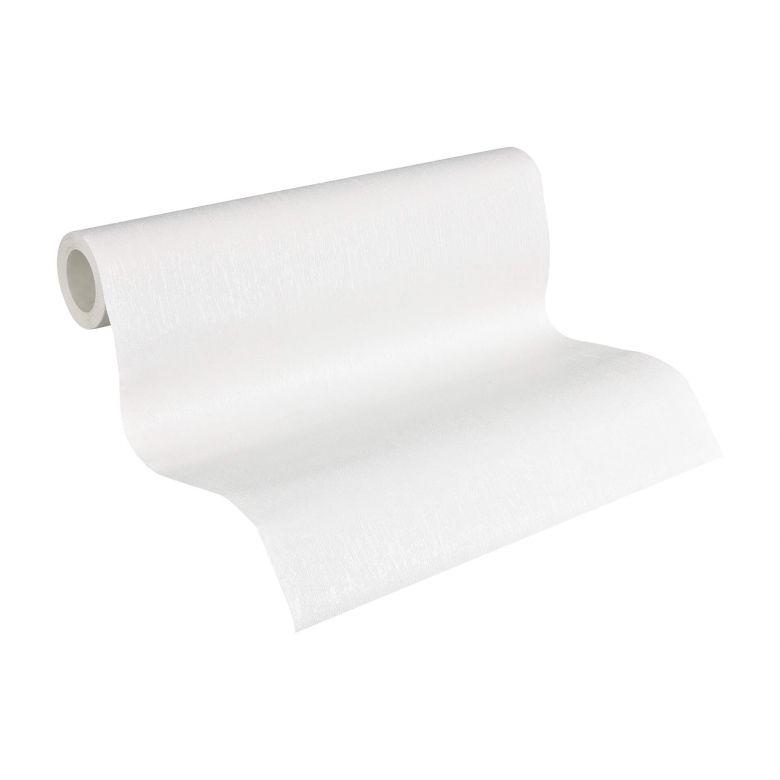 A.S. Création Vliestapete Meistervlies Strukturtapete Uni überstreichbar weiß