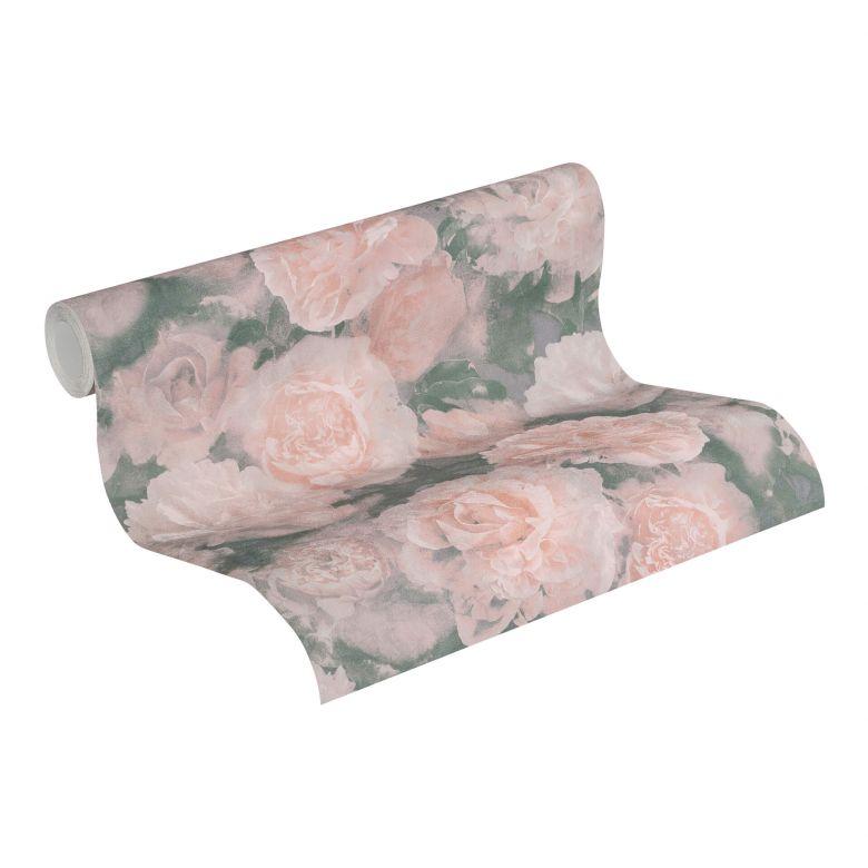 A.S. Création Vliestapete Neue Bude 2.0 Romantic Flowery Blumentapete mit Rosen grau, rosa, lila