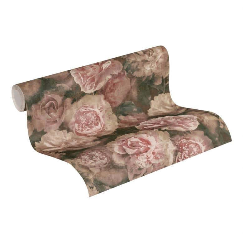 A.S. Création Vliestapete Neue Bude 2.0 Romantic Flowery Blumentapete mit Rosen rosa, rot, schwarz