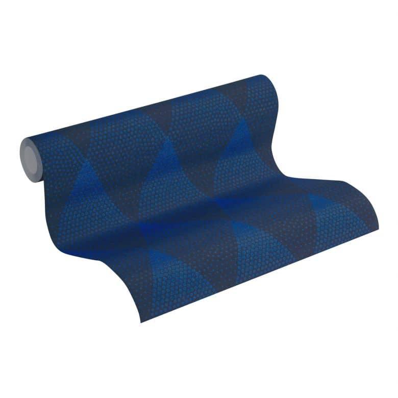 Livingwalls Vliestapete New Walls 50's Glam geometrische Tapete blau, schwarz