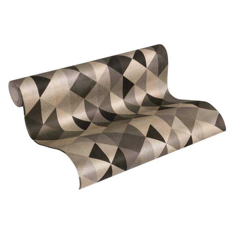 A.S. Création Vliestapete Scandinavian 2 Tapete geometrisch grafisch schwarz, metallic, braun