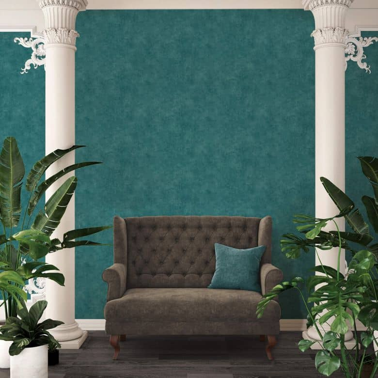 A.S. Création Vliestapete Sumatra Unitapete einfarbig blau, grün