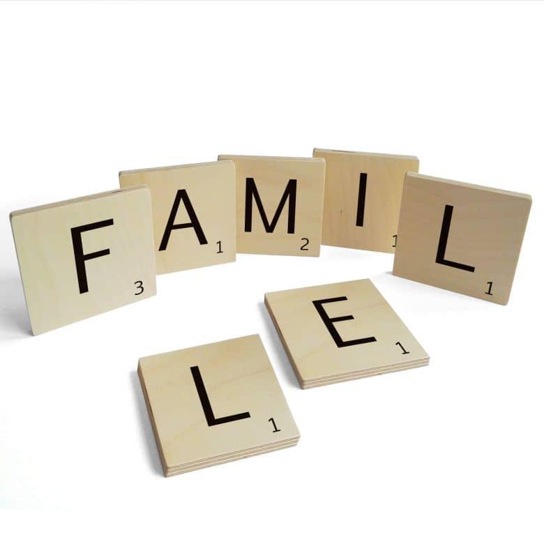 Lettere in legno - Famille