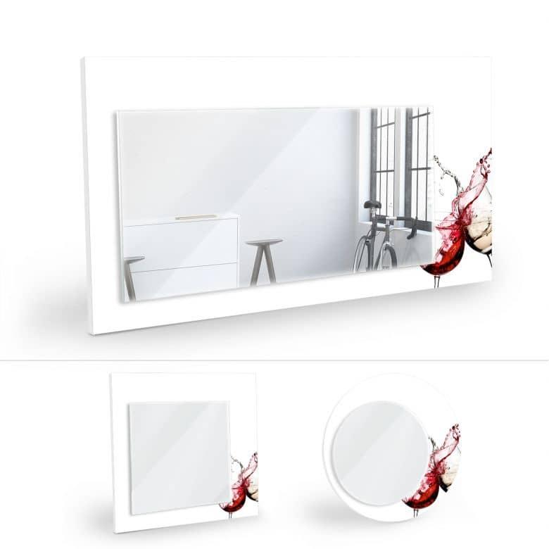 Wandspiegel Weingläser