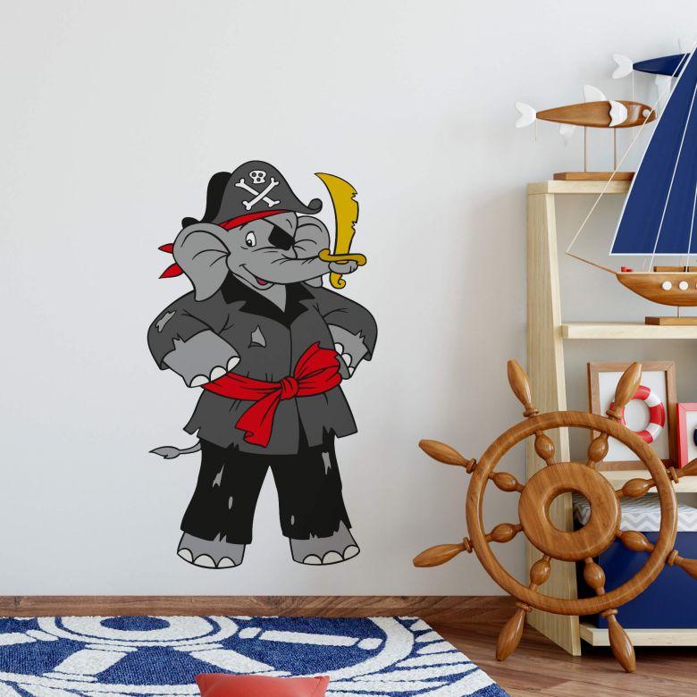 Muursticker Benjamin als Piraat