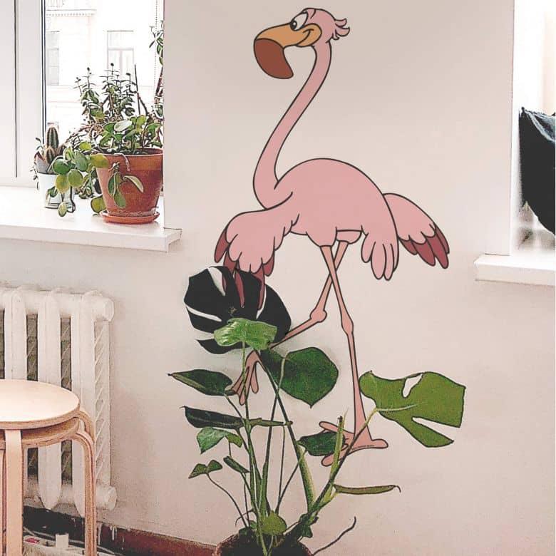Muursticker Benjamin Flamingo Fidelio