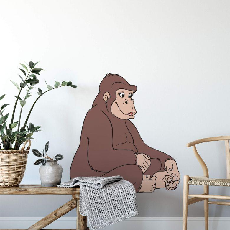 Muursticker Benjamin Gorilla Gilly