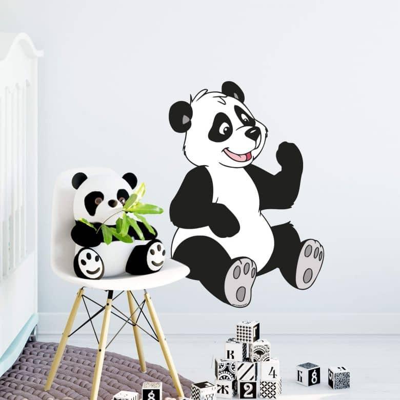 Muursticker Benjamin Panda Paula
