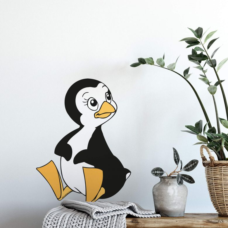 Muursticker Benjamin Pinguin Peggy