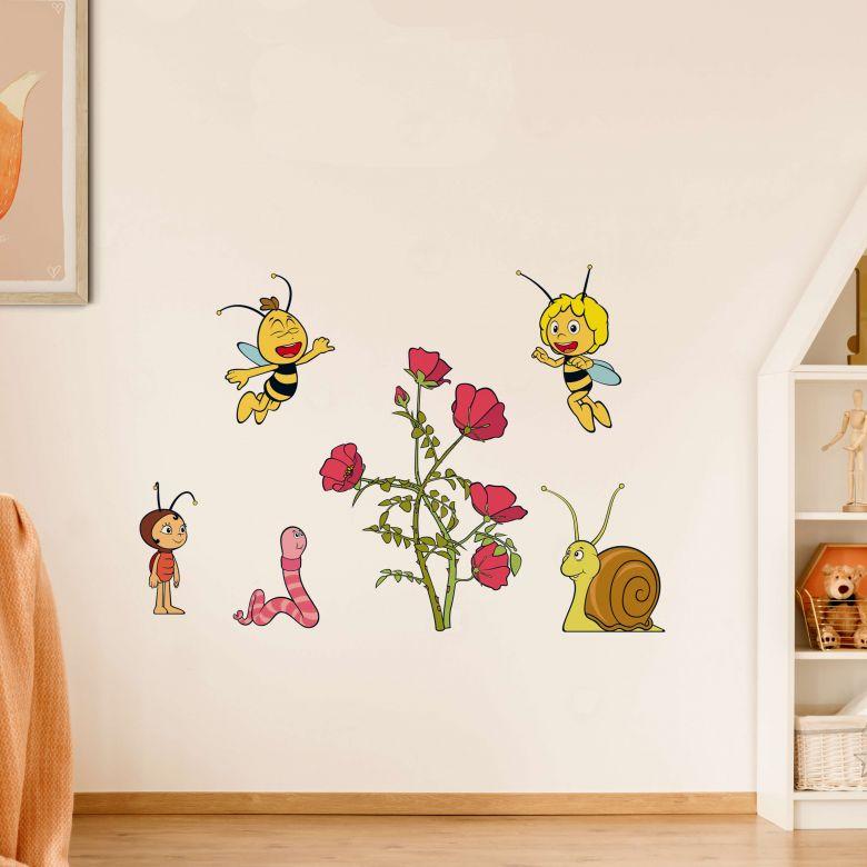 Wandtattoo Die Biene Maja Blütenparty