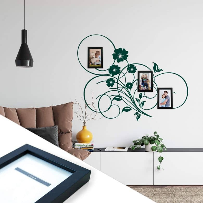 Blooming Tribal incl. 3 Photo Frames Wall sticker