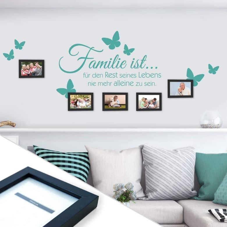 wandtattoo familie ist inkl 5 bilderrahmen wall. Black Bedroom Furniture Sets. Home Design Ideas