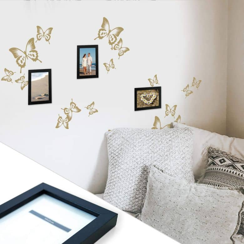 Butterflies incl. 3 Photo Frames Wall sticker