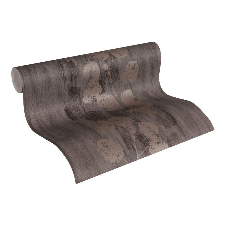 Livingwalls Designtapete braun, metallic