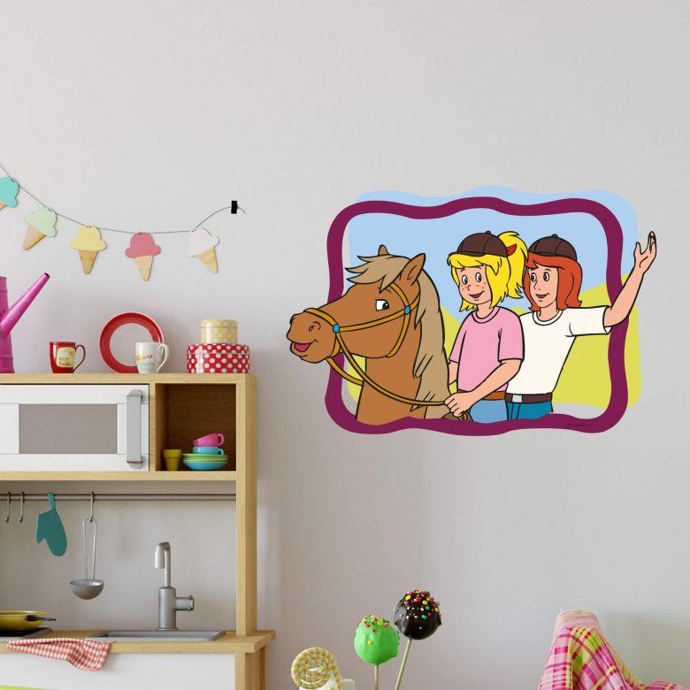 Bibi Tina Im Rahmen Bibi Und Tina Wandtattoos Fur Madchenzimmer Wall Art De