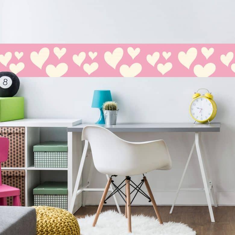 Wandtattoo Bibi Und Tina Herzen Bordure Fur Madchenzimmer Wall Art De