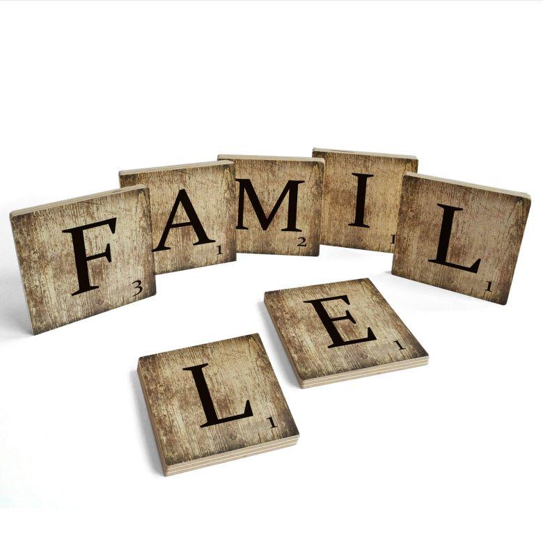 Lettere legno - Famille - Vintage