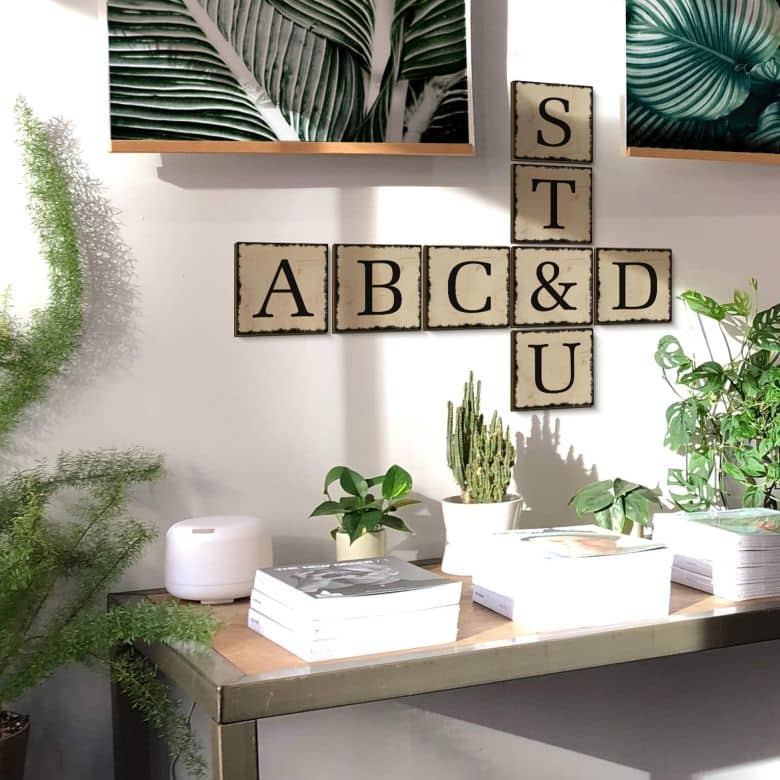 Wooden Decorative Letters - Shabby