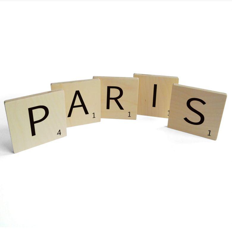 Buchstabensteine Paris