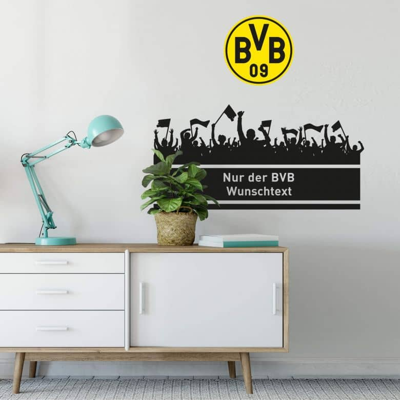 Wall sticker BVB + personalised text