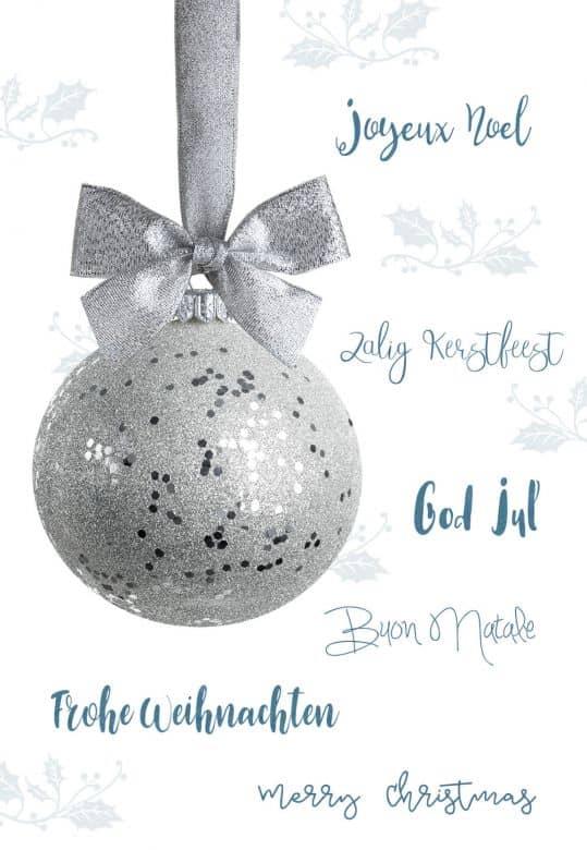 Kadobon Kerstmis - Kerstbal
