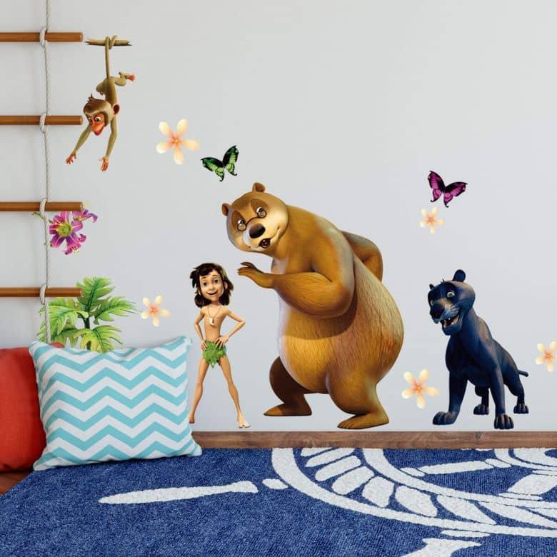 Adesivo murale Il libro della giungla - Il gruppo della giungla 2
