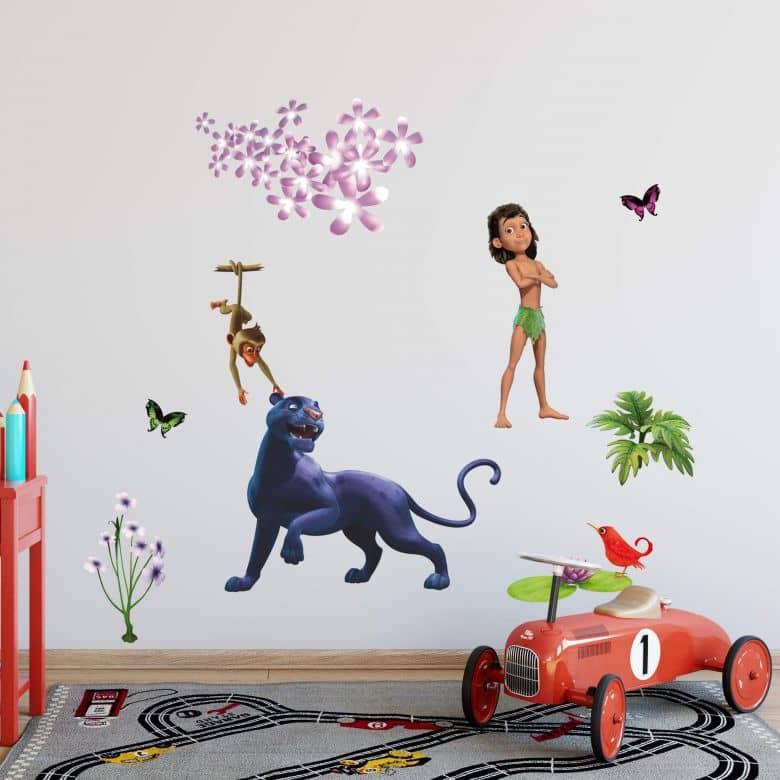 Adesivo murale Il libro della giungla Migliori amici